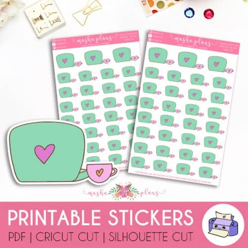 Laptop Icon Printable Stickers | Masha Plans