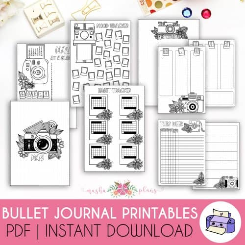 Printable May 2021 Bullet Journal Setup | Masha Plans