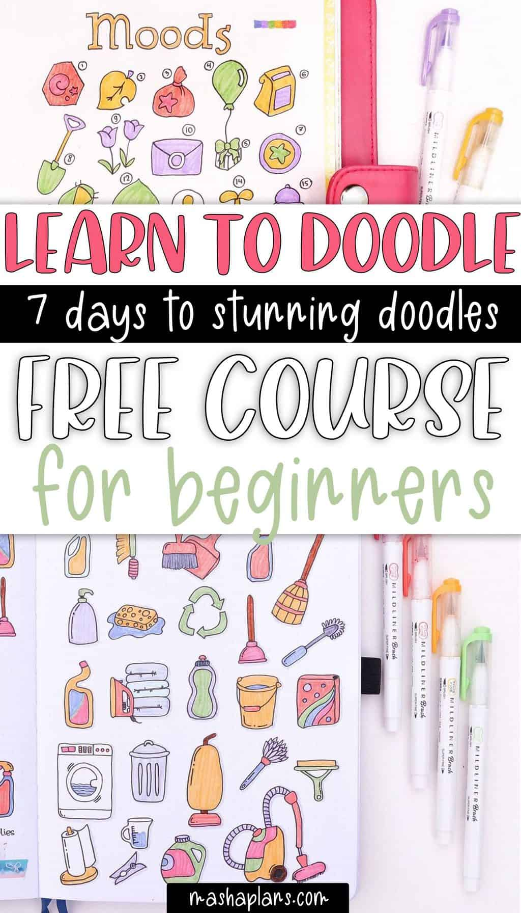 Free Course To Learn How To Doodle | Masha Plans